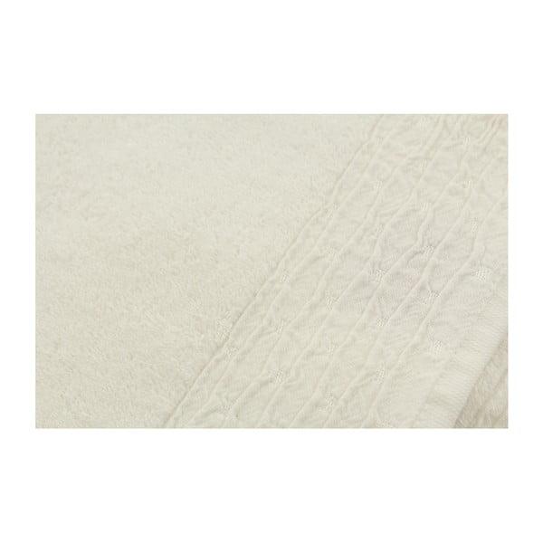 Sada 2 bílých ručníků Gofre, 90x50cm