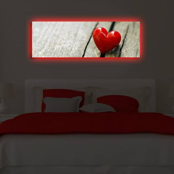 Obraz podsvícený LED diodou Act, 30x90 cm