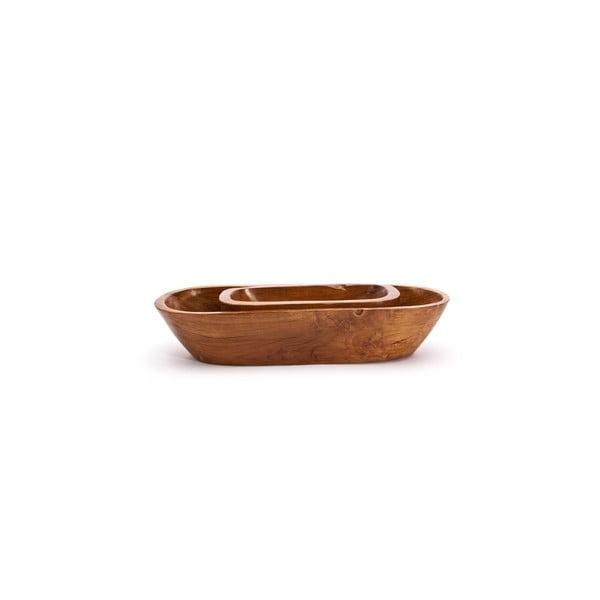 Ručně vyrobená teaková mísa Fact, 30 cm