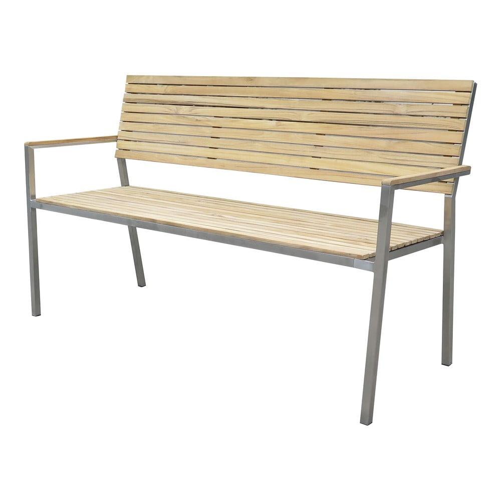 Zahradní 3-místná lavice s ocelovou konstrukcí ADDU Denver