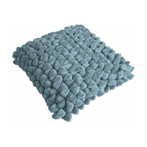 Modrý polštář ZicZac Pebble, 45x45cm