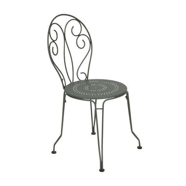 Šedá kovová židle Fermob Montmartre