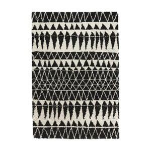 Černobílý koberec Mint Rugs Allure Black, 80x150cm