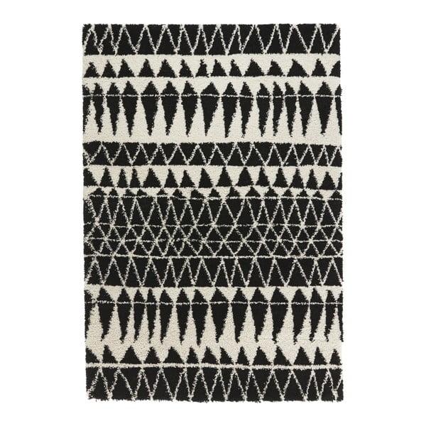 Černobílý koberec Mint Rugs Allure Black, 120x170cm