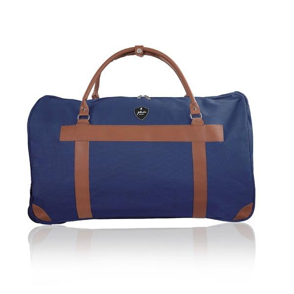 Modrá cestovná taška na kolieskach GENTLEMAN FARMER Oslo, 93 l