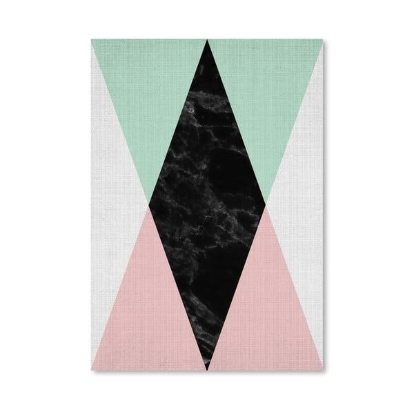 Plakát Geometric Pink Mint