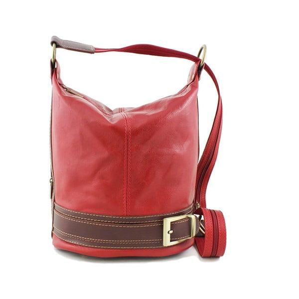 Kožená kabelka Crisana Rosso