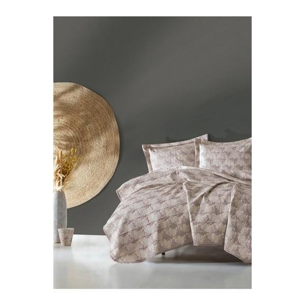 Lekka narzuta dwuosobowa z poduszkami Elegante, 240x250cm