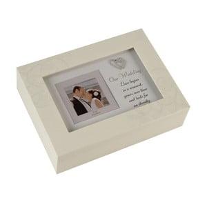 Hrací skříňka s rámečkem na fotografii Celebrations Ou Wedding, 8x8cm
