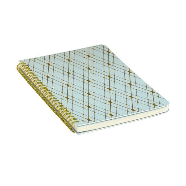 Modrý zápisník Tri-Coastal Design Stockholm Spiral