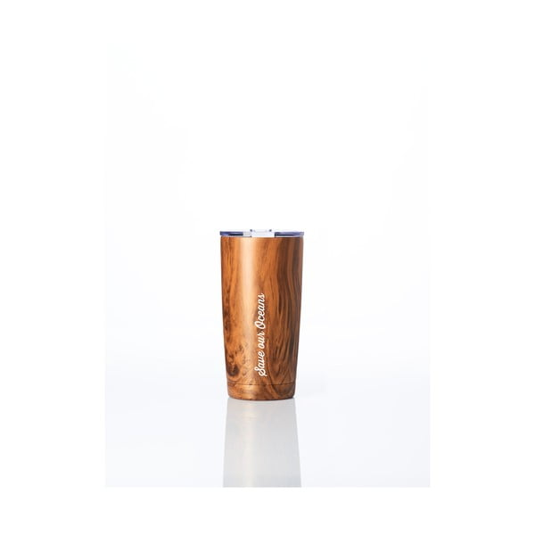 Kubek termiczny na kawę BBBYO Fix Woodgrain