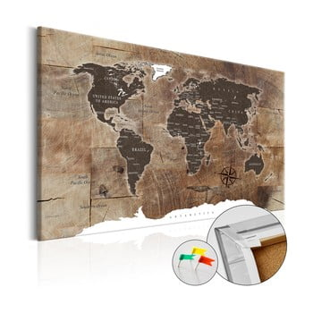 Hartă decorativă a lumii Bimago Wooden Mosaic, 120 x 80 cm imagine