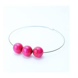 Růžový dřevěný náhrdelník Ko-ra-le Simple