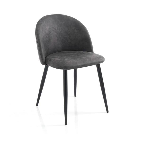 Zestaw 4 szarych krzeseł do jadalni Tomasucci New Kelly