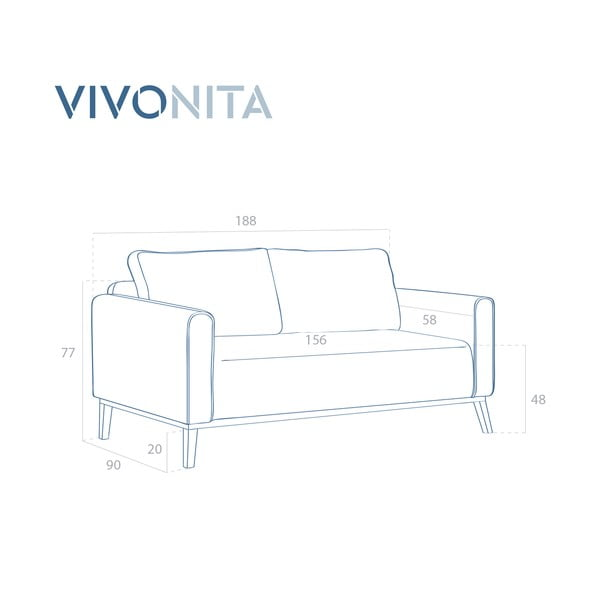 Tmavě zelená 3místná sedačka Vivonita Milton Trend