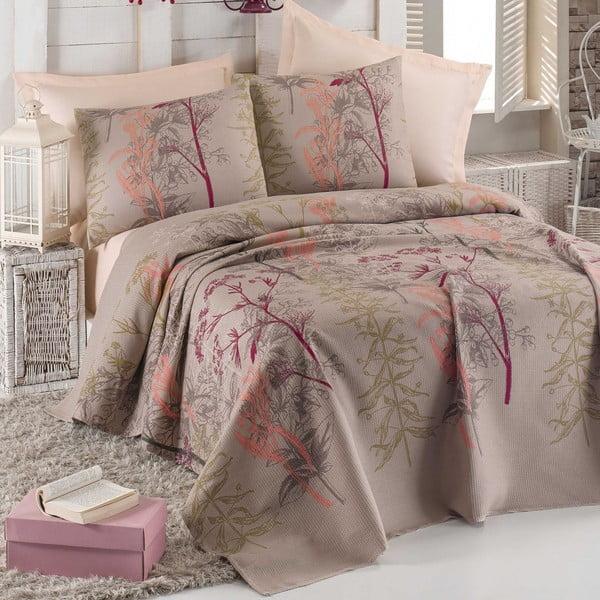Narzuta na łóżko, prześcieradło i poszewki na poduszki Urla, 200x235 cm