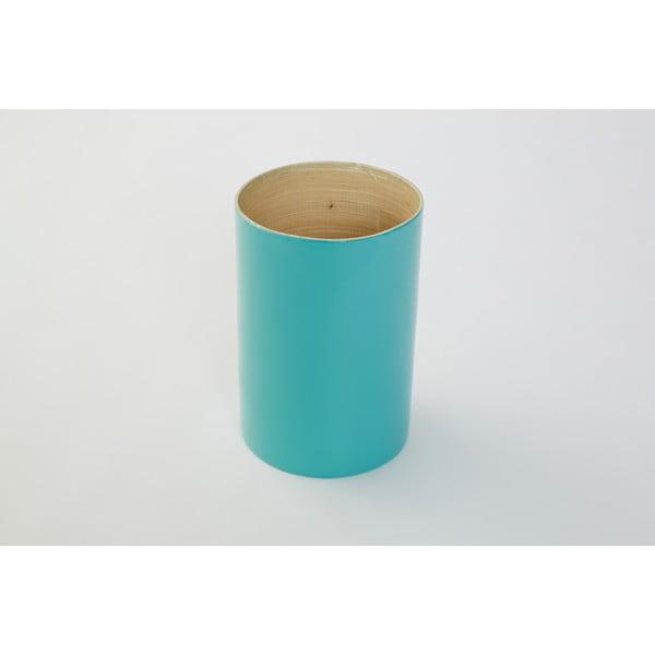 Bambusová dóza na kuchyňské nástroje Bamboo Tyrkys, 18 cm