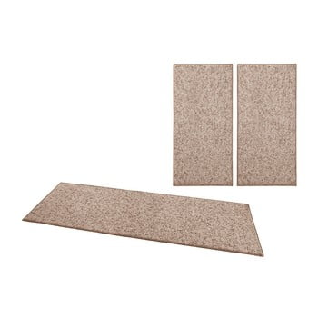 Set 3 covoare BT Carpet Wolly, maro de la BT Carpet