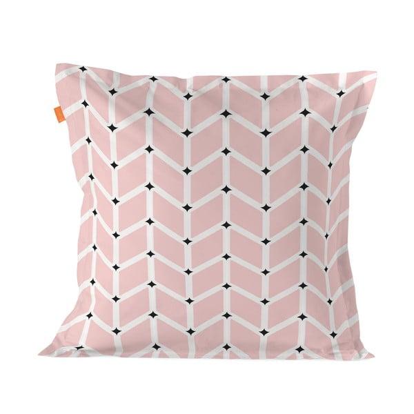Růžový bavlněný povlak na polštář Blanc Blush, 60x60cm
