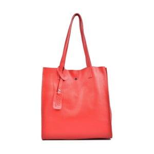 Červená kožená kabelka Isabella Rhea Leslie