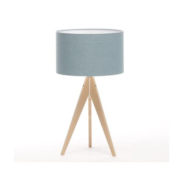 Stolní lampa Arist Light Blue/Natural