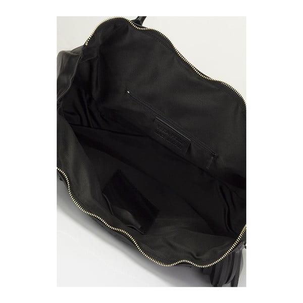 Kožená kabelka Giulia Massari 2502 Black
