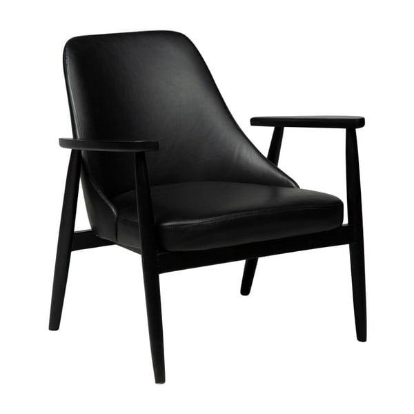 Czarny fotel ze skóry ekologicznej DAN–FORM Denmark Gaia