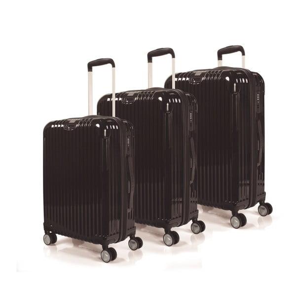 Sada 3 kufrů Jaslen, černá