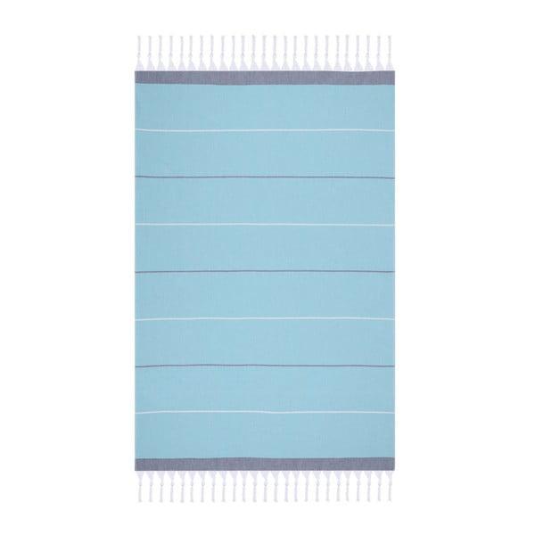 Modrá plážová osuška Fouta, 170x100cm