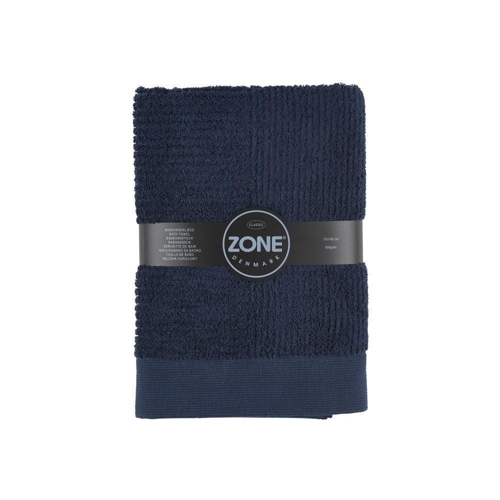 Tmavě modrá osuška Zone 70x140 cm