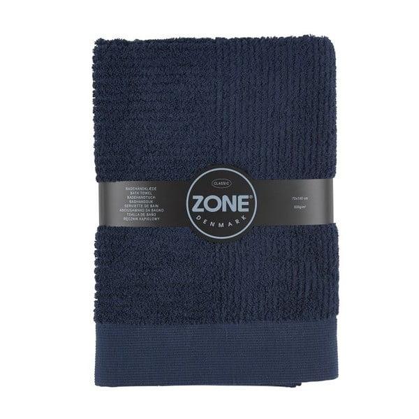 Tmavomodrá osuška Zone Classic, 70x140cm