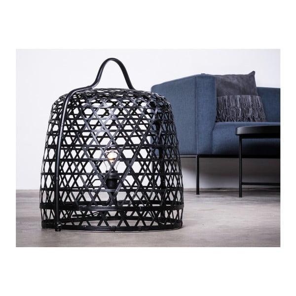 Stojací bambusová lampa Canett Octavio, ⌀45cm