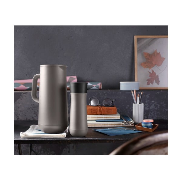 Termos din oțel inoxidabil v šedohnědé barvě WMF Cromargan® Impulse Plus, 1 l