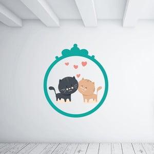 Samolepka na stěnu Kitties Love
