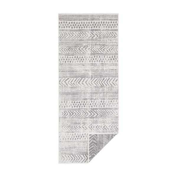 Covor pentru exterior Bougari Biri, 80 x 250 cm, gri-crem