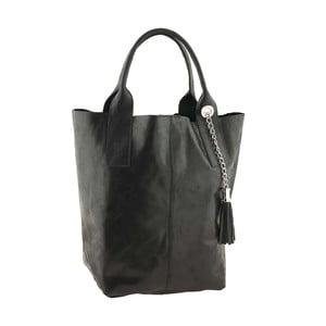 Kožená kabelka Genuine Black