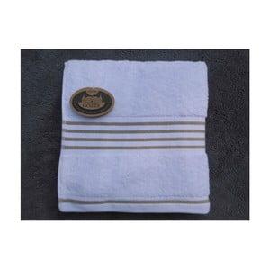 Ručník Rio Negative Taupe/White Stripes, 30x50 cm