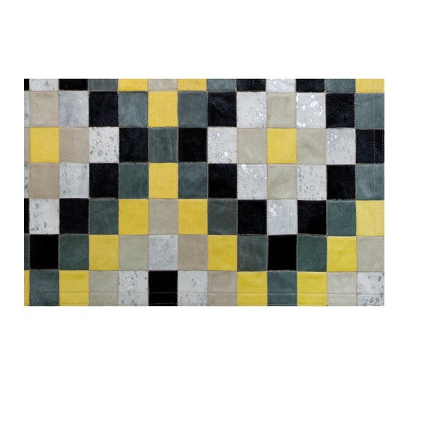 Koberec z pravé kůže Pipsa Mosaic, 120x180 cm