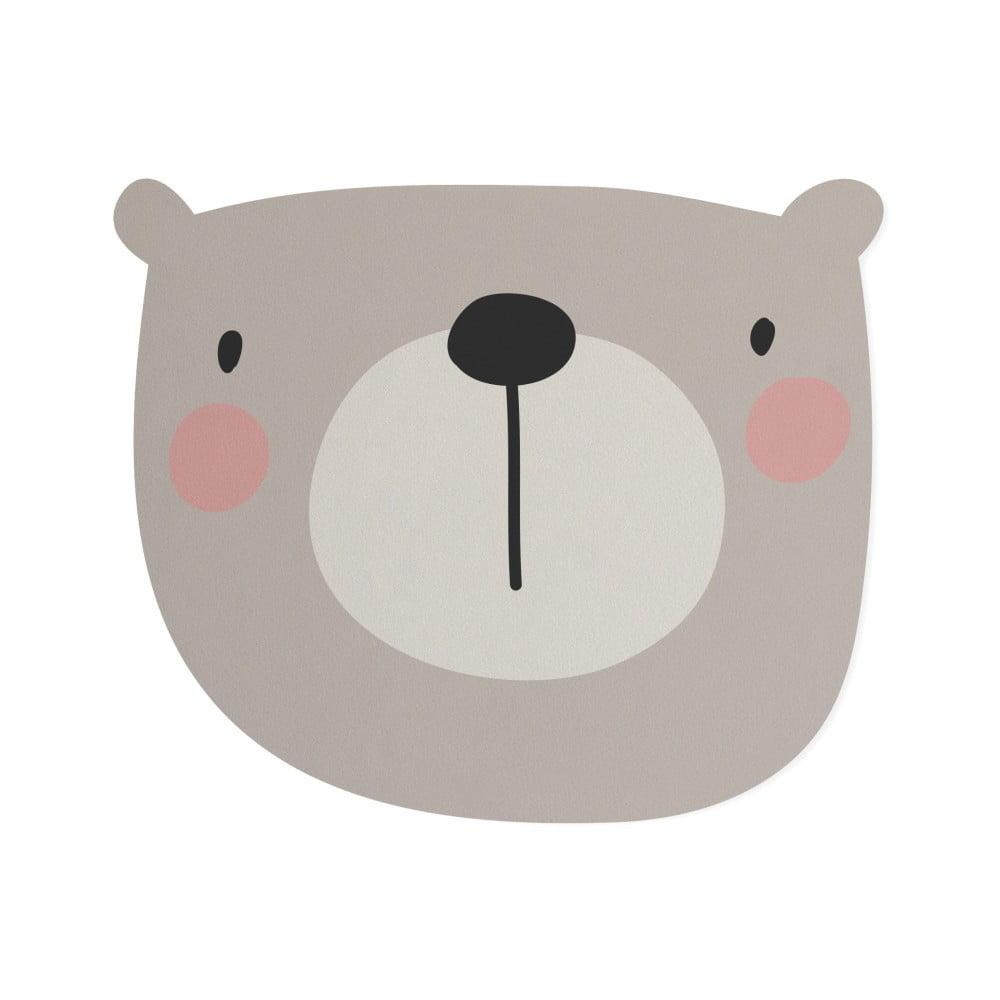 Dětšká předložka Little Nice Things Bear, 80 x 60 cm