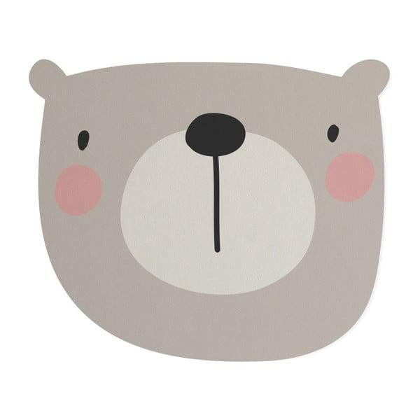 Dětská předložka Little Nice Things Bear, 80 x 60 cm