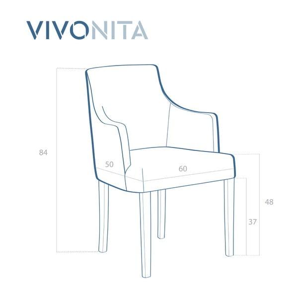 Sada 2 tmavě modrých židlí Vivonita Reese