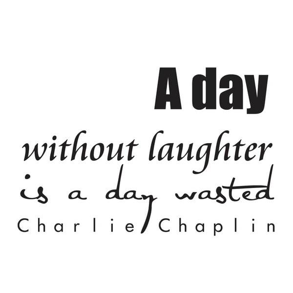 Dekorativní nástěnná samolepka Charlie Chaplin