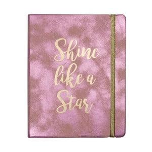 Zápisník Tri-CoastalDesign Shine Like A Star