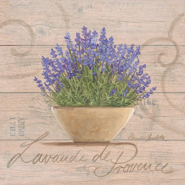Obraz na plátně Lavande De Provence 20x20 cm