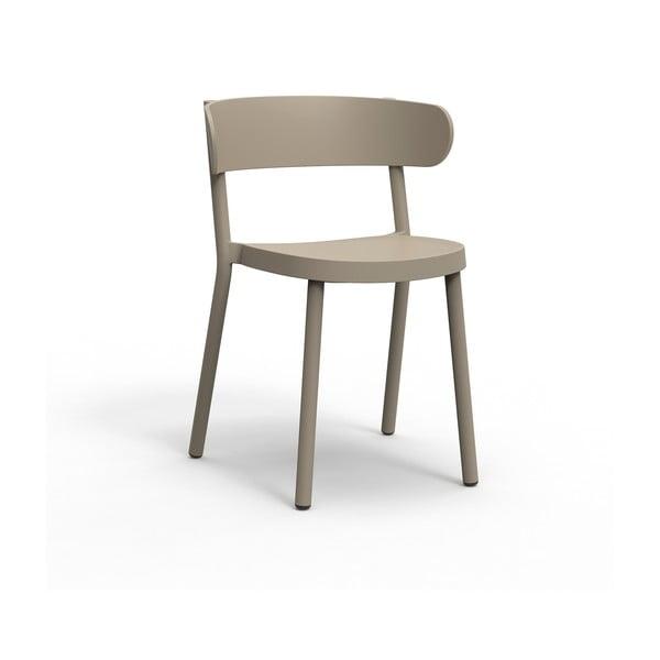 Set 2 scaune de grădină Resol Casino, maro nisipiu