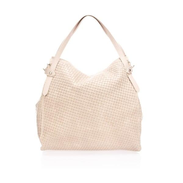 Béžová kožená kabelka Markese Hela