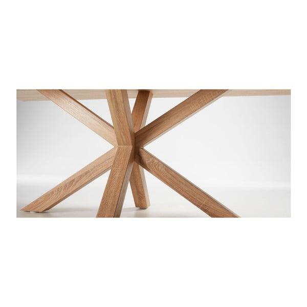 Jídelní stůl s dřevěným podnožím La Forma Arya Natural,délka200cm