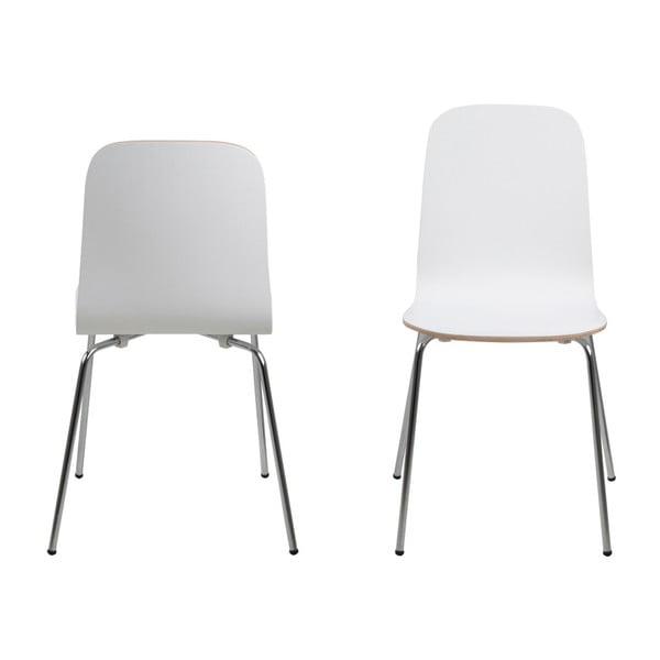 Sada 4 bílých jídelních židlí Actona Björn