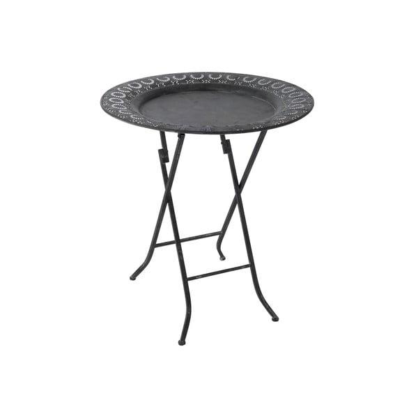 Skládací odkládací stolek Antic, černý