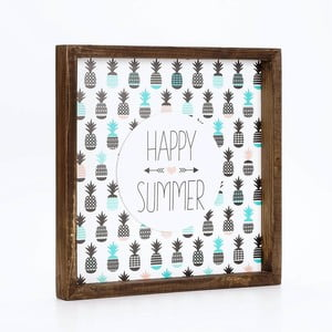Zarámovaný plastický obraz Dekorjinal Pouff Happy Summer, 33x33cm